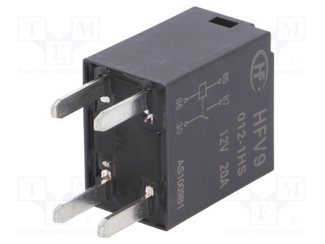 HFV9/012-1HS_Relay: electromagnetic; SPST-NO; Ucoil:12VDC; 30A; automotive