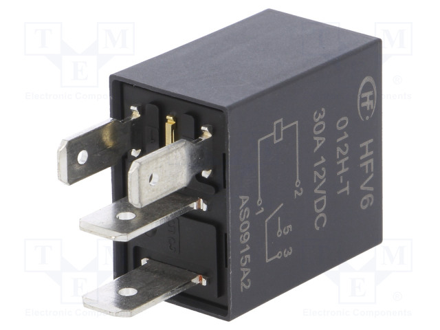 HFV6/012H-T_Relay: electromagnetic; SPST-NO; Ucoil:12VDC; 30A; automotive