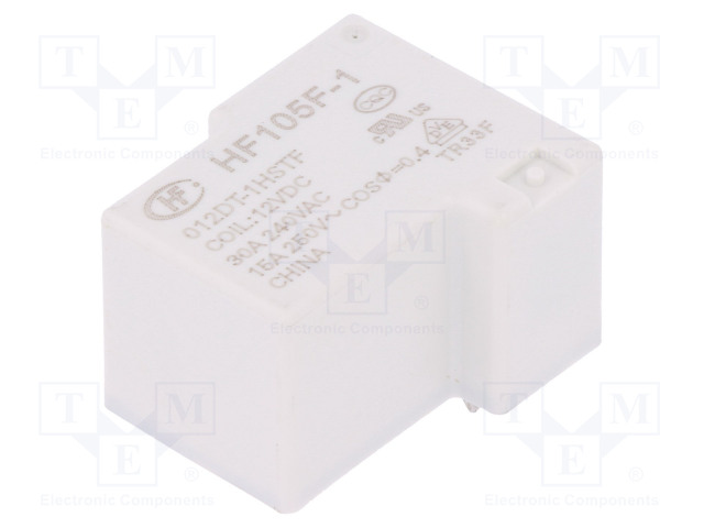 HF105F-1/012DT-1HSTF_Relay: electromagnetic; SPST-NO; Ucoil:12VDC; 40A; Ucoil min:9VDC