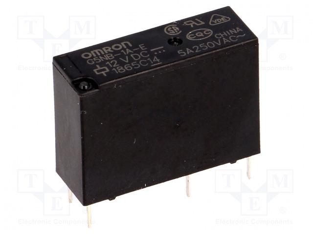 G5NB-1A-E 12VDC_Relay: electromagnetic; SPST-NO; Ucoil:12VDC; 5A/250VAC; 3A/30VDC