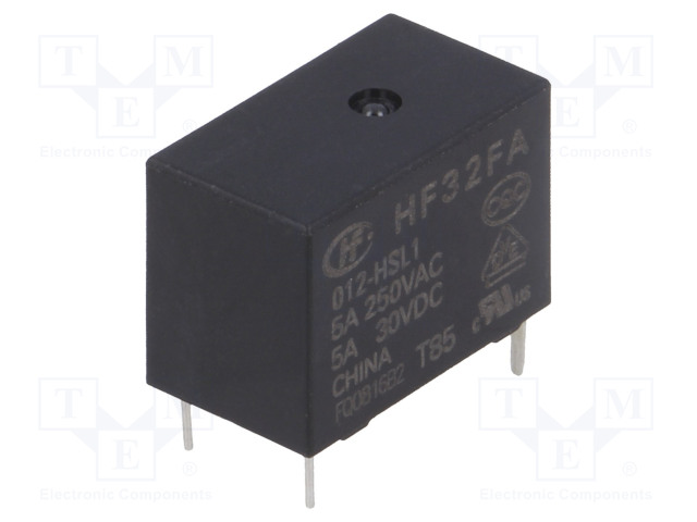 HF32FA/012-HSL1_Relay: electromagnetic; SPST-NO; Ucoil:12VDC; 5A/250VAC; 5A/30VDC