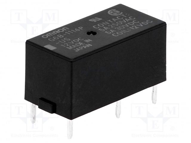 G6B-1114P-US 12VDC_Relay: electromagnetic; SPST-NO; Ucoil:12VDC; 5A/250VAC; 5A/30VDC