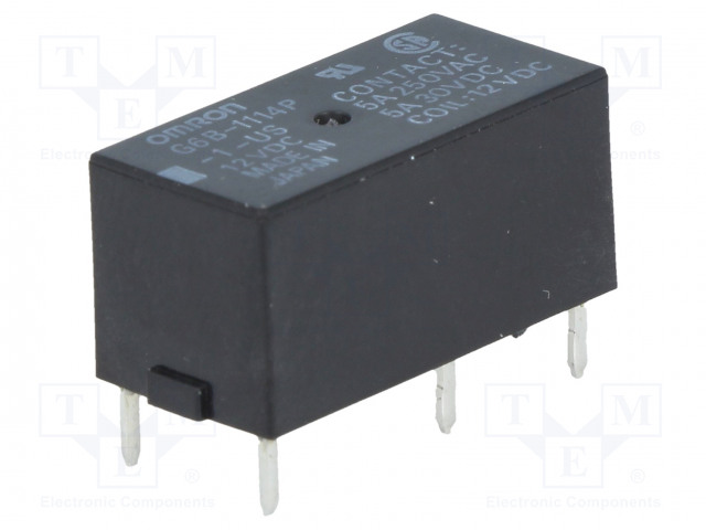 G6B-1114P-1-US 12VDC_Relay: electromagnetic; SPST-NO; Ucoil:12VDC; 5A/250VAC; 5A/30VDC