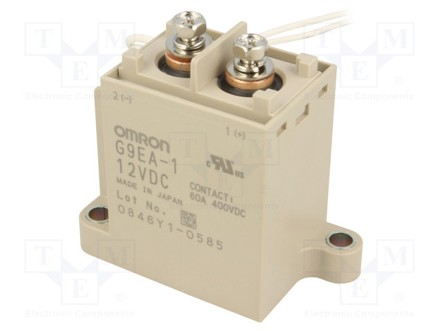 G9EA-1 12VDC_Relay: electromagnetic; SPST-NO; Ucoil:12VDC; Icontacts max:100A