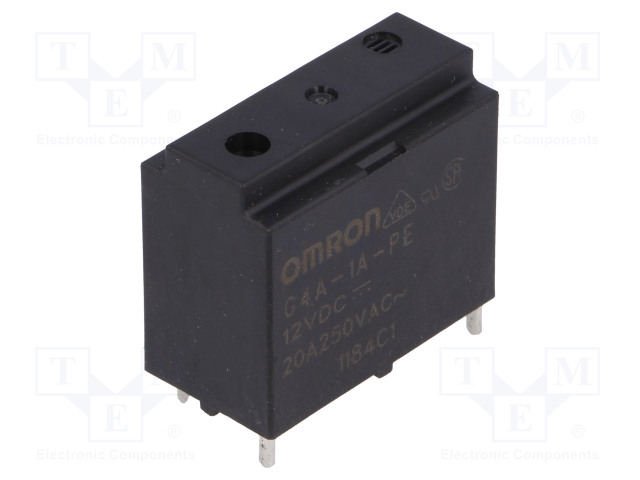 G4A-1A-PE 12VDC_Relay: electromagnetic; SPST-NO; Ucoil:12VDC; Icontacts max:20A