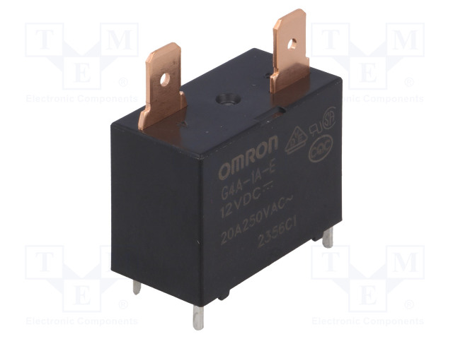 G4A-1A-E 12VDC_Relay: electromagnetic; SPST-NO; Ucoil:12VDC; Icontacts max:20A