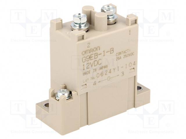 G9EB-1-B 12VDC_Relay: electromagnetic; SPST-NO; Ucoil:12VDC; Icontacts max:25A