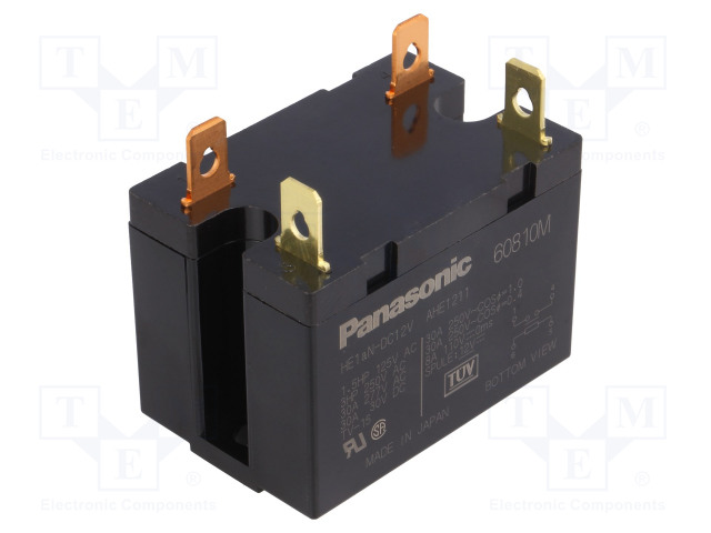 HE1AN-DC12V_Relay: electromagnetic; SPST-NO; Ucoil:12VDC; Icontacts max:30A