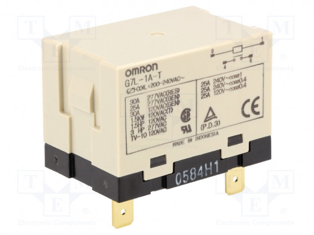 G7L-1A-T 200/240VAC_Relay: electromagnetic; SPST-NO; Ucoil:230VAC; Icontacts max:30A