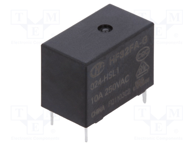 HF32FA-G/024-HSL1_Relay: electromagnetic; SPST-NO; Ucoil:24VDC; 10A/250VAC; 10A