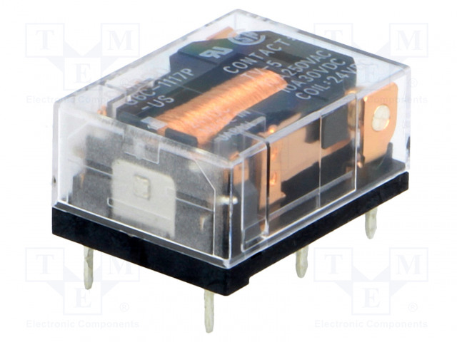 G6C-1117P-US 24VDC_Relay: electromagnetic; SPST-NO; Ucoil:24VDC; 10A/250VAC
