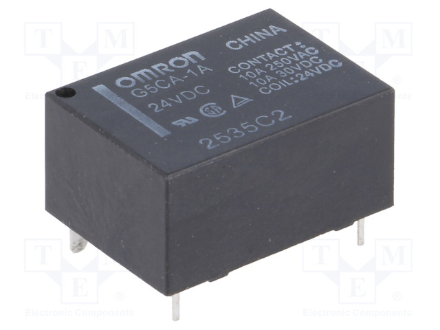 G5CA-1A 24VDC_Relay: electromagnetic; SPST-NO; Ucoil:24VDC; 10A/250VAC; 200mW