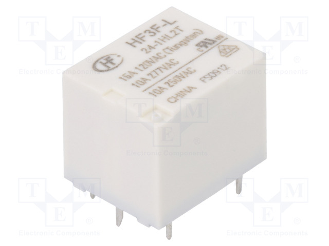 HF3F-L/24-1HL2T_Relay: electromagnetic; SPST-NO; Ucoil:24VDC; 10A/277VAC; 15A