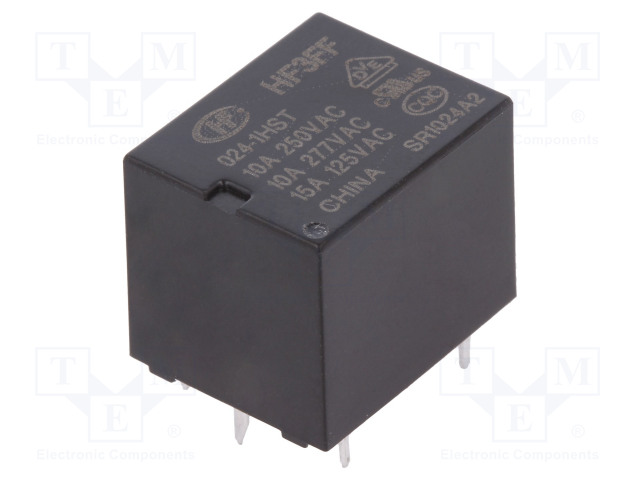 HF3FF/024-1HST_Relay: electromagnetic; SPST-NO; Ucoil:24VDC; 10A/277VAC; 15A