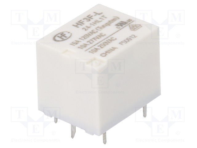 HF3F-L/24-1HL1T_Relay: electromagnetic; SPST-NO; Ucoil:24VDC; 10A/277VAC; 15A