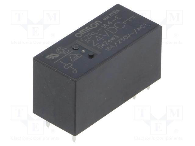 G2RL-1A4-E 24VDC_Relay: electromagnetic; SPST-NO; Ucoil:24VDC; 16A/250VAC