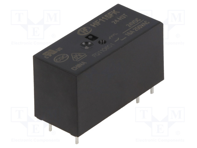 HF115FK/24-H3T_Relay: electromagnetic; SPST-NO; Ucoil:24VDC; 16A/250VAC; 16A