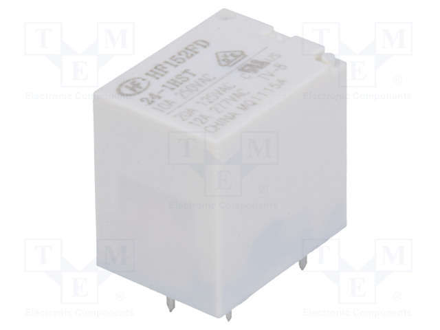 HF152FD/24-1HST_Relay: electromagnetic; SPST-NO; Ucoil:24VDC; 20A/125VAC; 20A