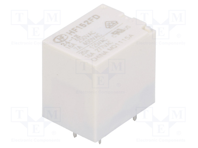 HF152FD/24-1H_Relay: electromagnetic; SPST-NO; Ucoil:24VDC; 20A/125VAC; 20A