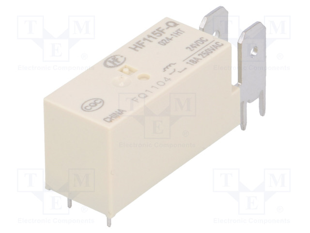 HF115F-Q/024-1HT_Relay: electromagnetic; SPST-NO; Ucoil:24VDC; 20A/250VAC; 20A