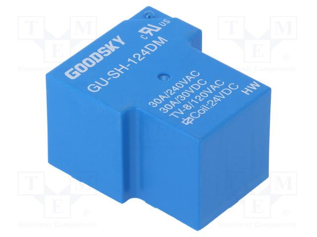 GU-SH-124DM_Relay: electromagnetic; SPST-NO; Ucoil:24VDC; 30A; Series: GU