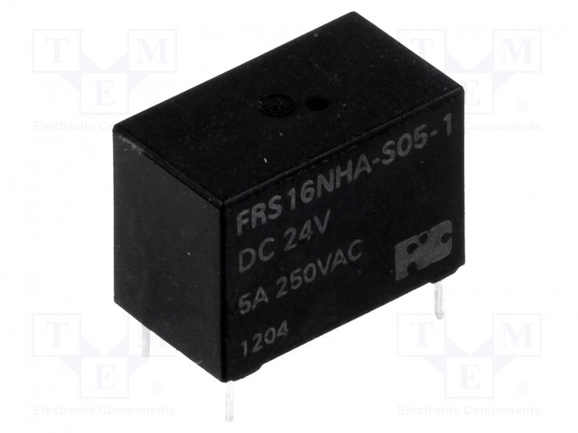 FRS16NHA-S05-1 DC24V_Relay: electromagnetic; SPST-NO; Ucoil:24VDC; 5A/125VAC; 5A/30VDC