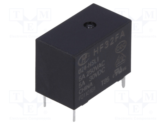 HF32FA/024-HSL1_Relay: electromagnetic; SPST-NO; Ucoil:24VDC; 5A/250VAC; 5A/30VDC