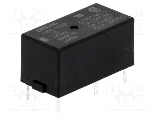 G6B-1114P-US 24VDC_Relay: electromagnetic; SPST-NO; Ucoil:24VDC; 5A/250VAC; 5A/30VDC