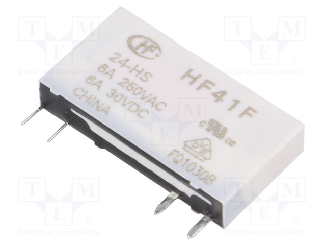 HF41F/24-HS_Relay: electromagnetic; SPST-NO; Ucoil:24VDC; 6A/250VAC; 6A/30VDC