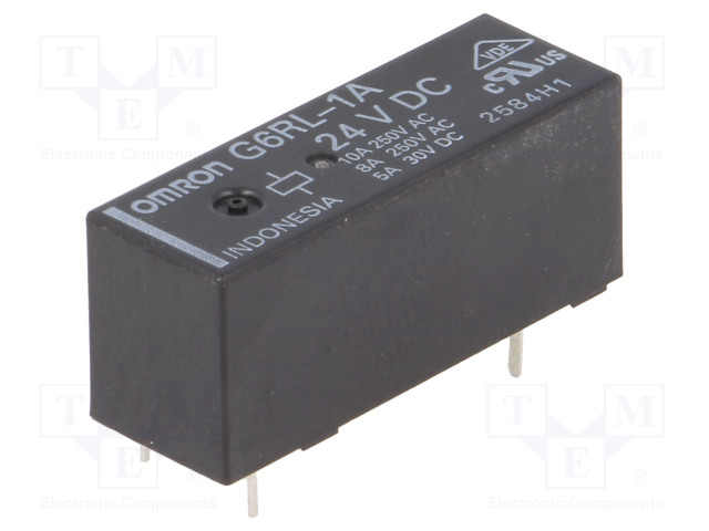 G6RL-1A 24VDC_Relay: electromagnetic; SPST-NO; Ucoil:24VDC; 8A/250VAC; 5A/30VDC