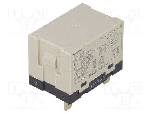 G7L-1A-T 24VDC_Relay: electromagnetic; SPST-NO; Ucoil:24VDC; Icontacts max:30A