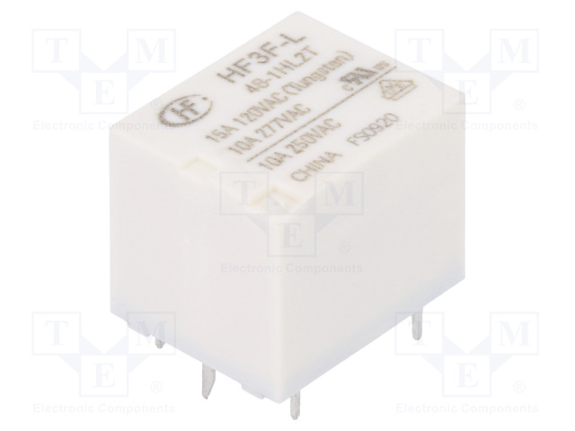 HF3F-L/48-1HL2T_Relay: electromagnetic; SPST-NO; Ucoil:48VDC; 10A/277VAC; 15A