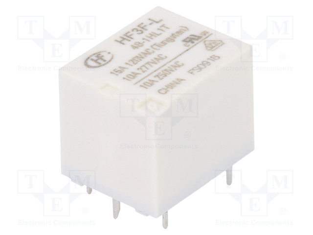 HF3F-L/48-1HL1T_Relay: electromagnetic; SPST-NO; Ucoil:48VDC; 10A/277VAC; 15A