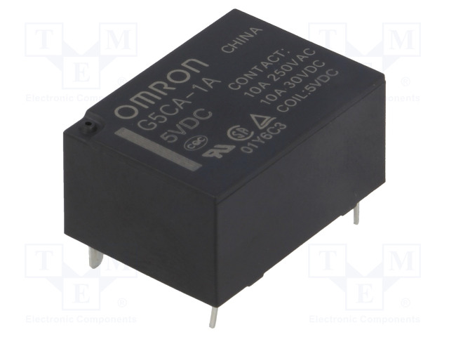G5CA-1A 5VDC_Relay: electromagnetic; SPST-NO; Ucoil:5VDC; 10A/250VAC; 200mW
