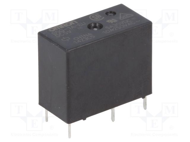 G5Q-1A-EU 5VDC_Relay: electromagnetic; SPST-NO; Ucoil:5VDC; 10A/250VAC; 5A/30VDC