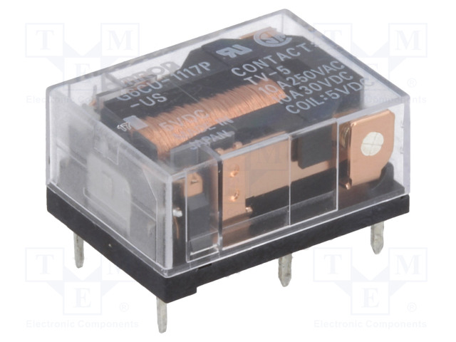 G6CU-1117P-US 5VDC_Relay: electromagnetic; SPST-NO; Ucoil:5VDC; 10A/250VAC