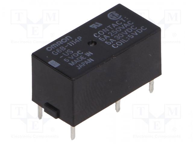 G6B-1114P-US 5VDC_Relay: electromagnetic; SPST-NO; Ucoil:5VDC; 5A/250VAC; 5A/30VDC