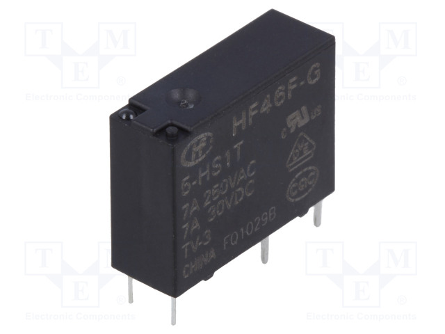 HF46F-G/5-HS1T_Relay: electromagnetic; SPST-NO; Ucoil:5VDC; 7A/250VAC; 7A/30VDC