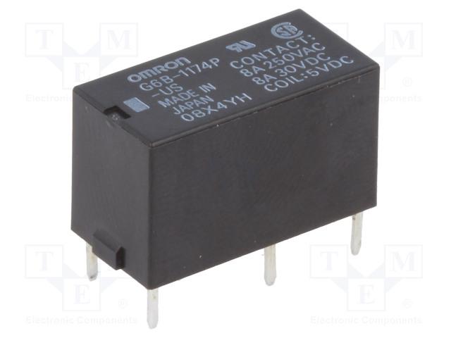 G6B-1174P-US 5VDC_Relay: electromagnetic; SPST-NO; Ucoil:5VDC; 8A/250VAC; 8A/30VDC