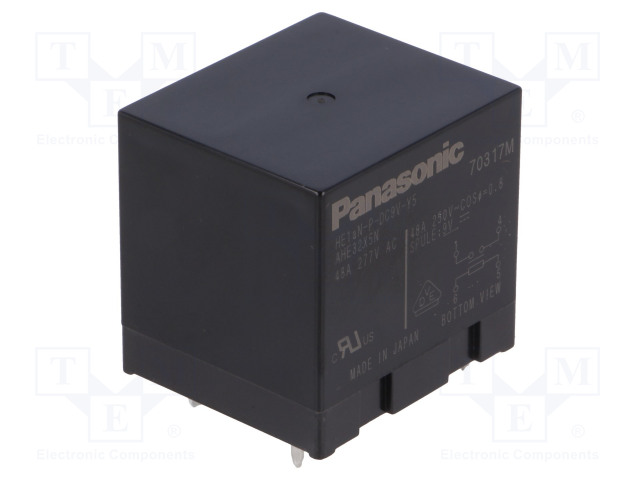 HE1AN-P-DC9V-Y5_Relay: electromagnetic; SPST-NO; Ucoil:9VDC; Icontacts max:48A