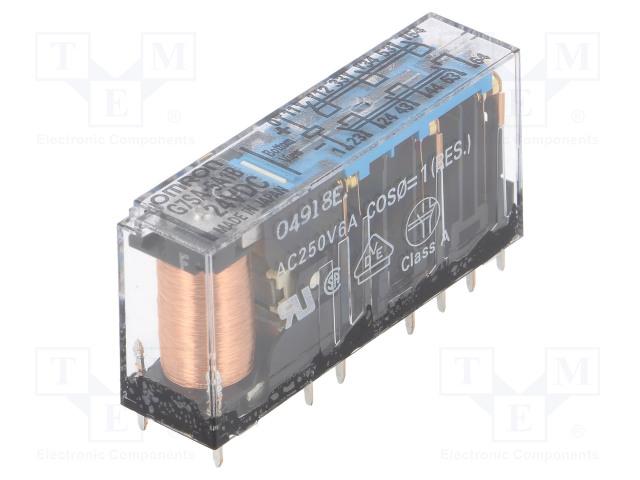 G7SA-5A1B 24DC_Relay: electromagnetic; SPST-NO x5 + SPST-NC x1; Ucoil:24VDC