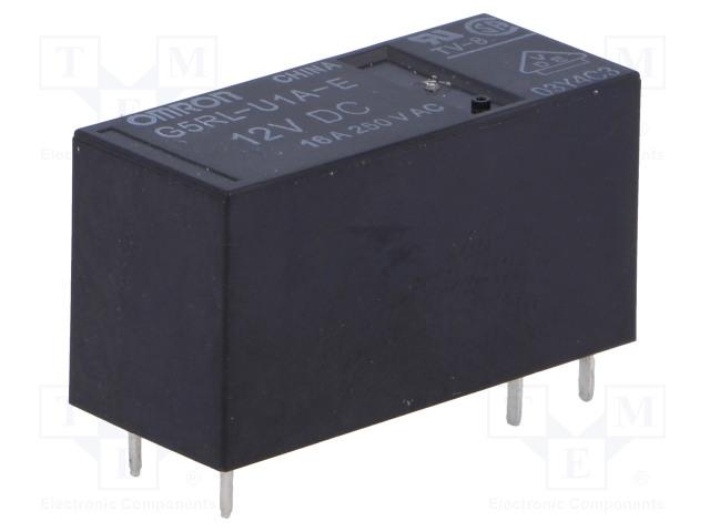 G5RL-U1A-E-12DC_Relay: electromagnetic; SPST; Ucoil:12VDC; 16A/250VAC; 16A/24VDC