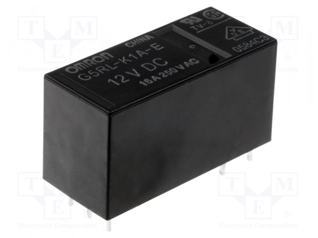G5RL-K1A-E-12DC_Relay: electromagnetic; SPST; Ucoil:12VDC; 16A/250VAC; 16A/24VDC