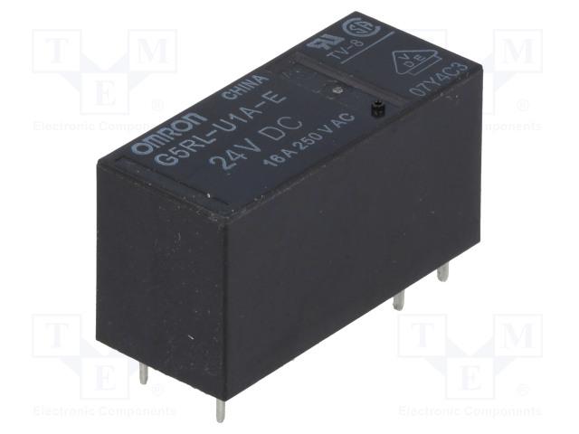 G5RL-U1A-E-24DC_Relay: electromagnetic; SPST; Ucoil:24VDC; 16A/250VAC; 16A/24VDC