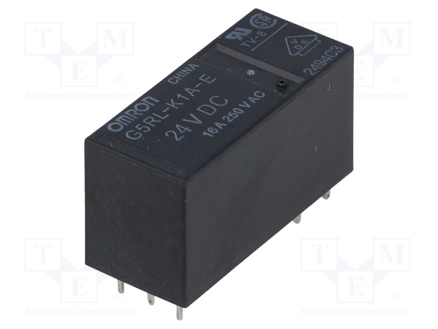 G5RL-K1A-E-24DC_Relay: electromagnetic; SPST; Ucoil:24VDC; 16A/250VAC; 16A/24VDC
