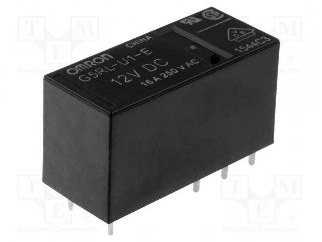 G5RL-U1A-E-5DC_Relay: electromagnetic; SPST; Ucoil:5VDC; 16A/250VAC; 16A/24VDC
