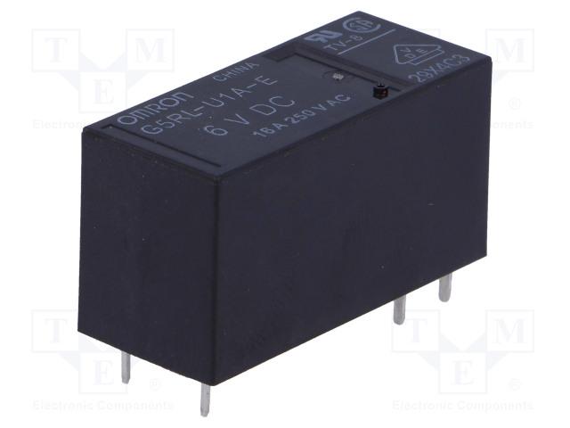 G5RL-U1A-E-6DC_Relay: electromagnetic; SPST; Ucoil:6VDC; 16A/250VAC; 16A/24VDC
