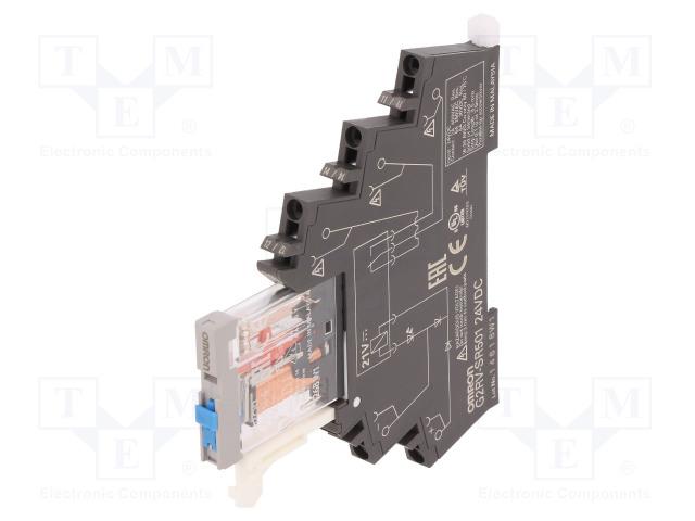 G2RV-SR501 DC24_Relay: interface; SPDT; Ucoil:24VDC; 6A; 6A/250VAC; 6A/30VDC; 100mΩ