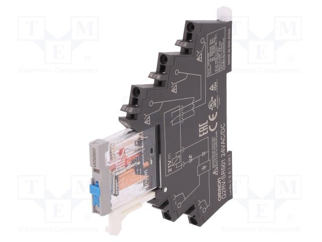 G2RV-SR501 AC/DC24_Relay: interface; SPDT; Ucoil:24VDC; Ucoil:24VAC; 6A; 6A/250VAC