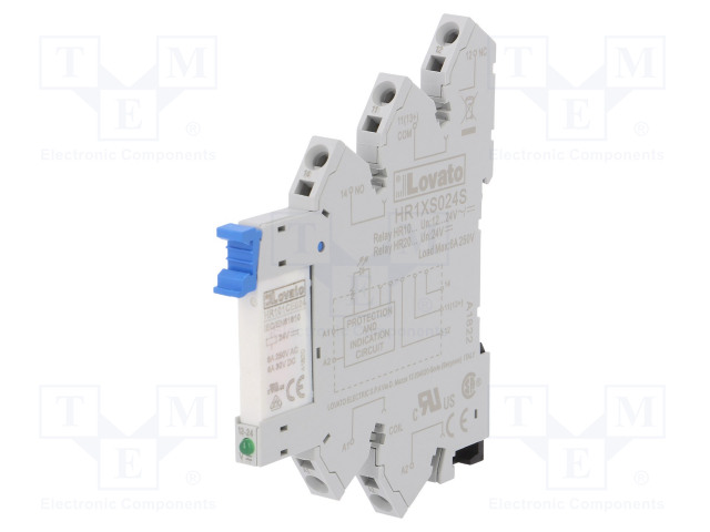 HRA101CE024S_Relay: interface; SPDT; Ucoil:24VDC; Ucoil:24VAC; 6A; 6A/250VAC